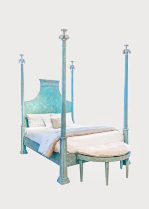 B97 Tintoretto Bed B97 • Qn • Xx • Pb • 48 Con Custom Bench (1)