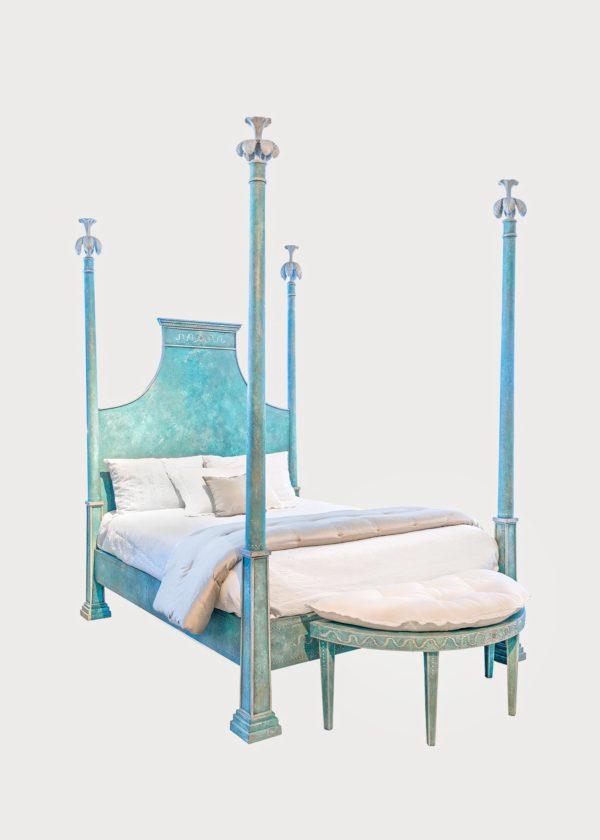 B97 Tintoretto Bed B97 • Qn • Xx • Pb • 48 Con Custom Bench (1)