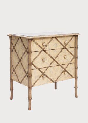 C92 Lombardia Bamboo Nightstand Standard Drawers (3)