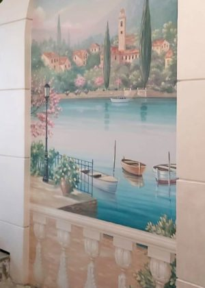 Decorated Canvas Wall Porte Italia Venezia