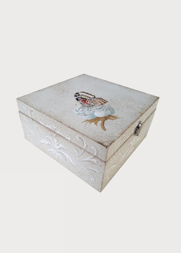 Hand Painted Box Butterly Decor Porte Italia Venezia