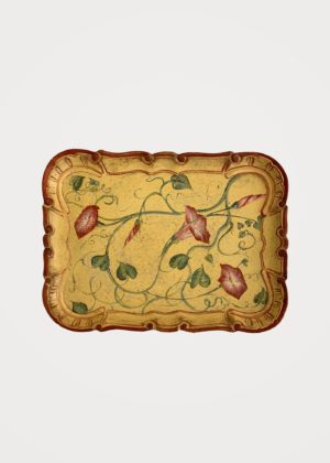 Hand Painted Tray Yellow Porte Italia Venezia
