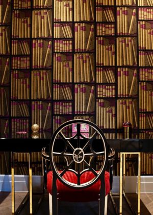 Our Aquileia Armchair Red Upholstery London Porte Italia Venezia (1)