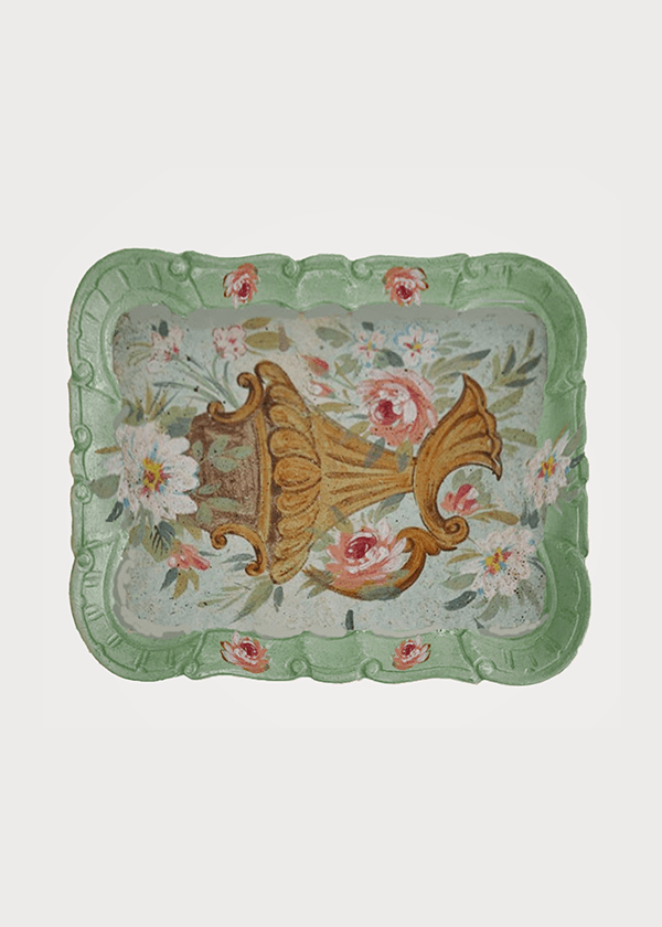 San Marco Tray Green Flowers