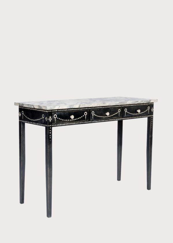 T78 Provenza Table Handpainted Marble Top Porte Italia Venezia