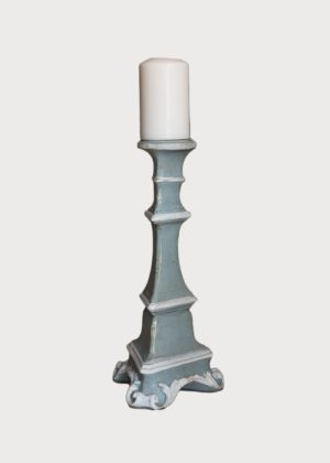 Gubbio Candle Holder L82 Sm Pb Wt