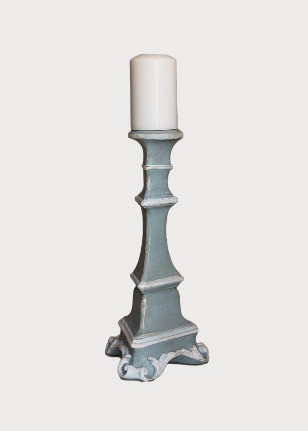 Gubbio Candle Holder L82 Sm Pb Wt