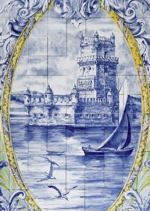Hand Painted Ceramic Tiles Porte Italia Venezia 15b