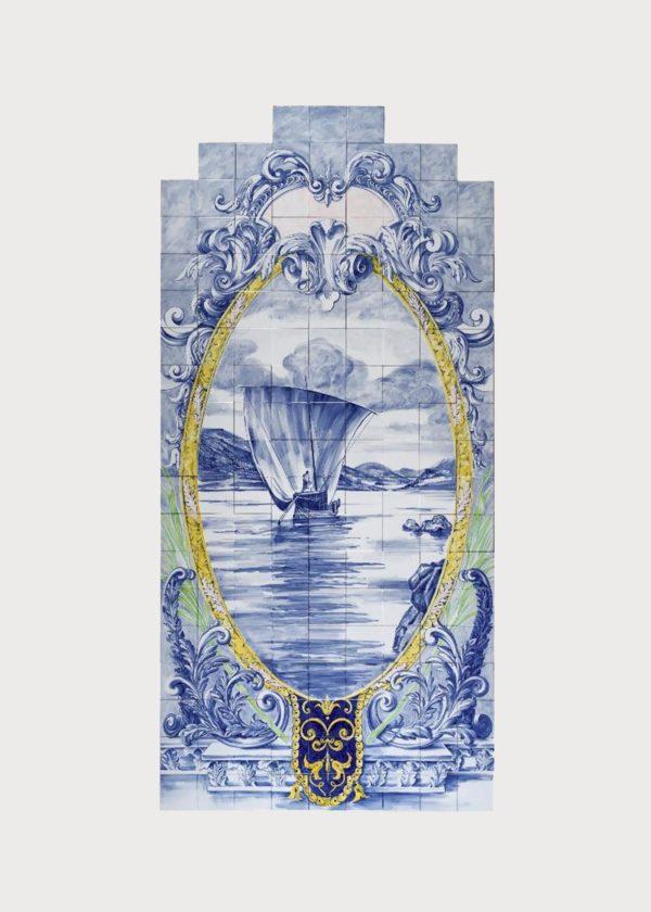 Hand Painted Ceramic Tiles Porte Italia Venezia 18