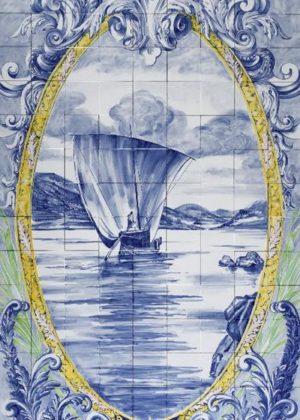 Hand Painted Ceramic Tiles Porte Italia Venezia 18b