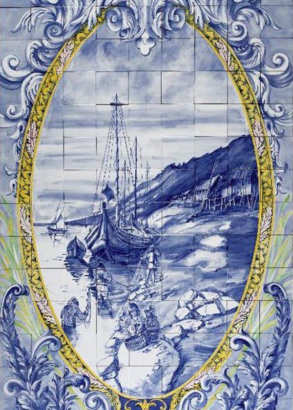 Hand Painted Ceramic Tiles Porte Italia Venezia 21b